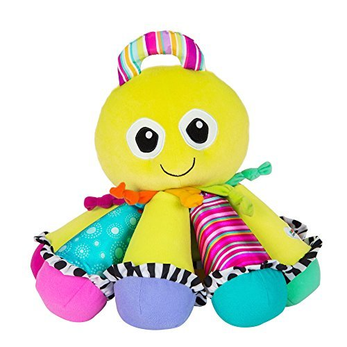 LAMAZE - Octotunes Musical Toy, Help Baby Discover and Play with Sound, with Bright Colors, Fun Textures, and Eight Notes, 0 Months and Older
