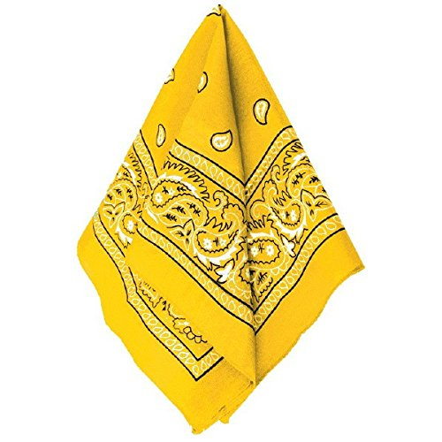 Amscan Bandana, Party Accessory, Yellow