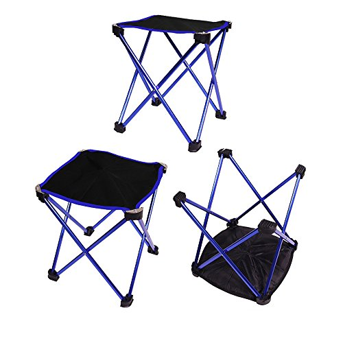 Jshuang Aluminum Alloy + Oxford Fabric + Nylon Buckle Outdoor Portable Folding Camping Hiking Fishing Picnic BBQ Stool Chair img 1