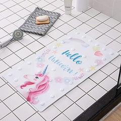 oocc 27.5 x 15.7 Inch Non Slip Baby Bath Mat with Suction Cups for Tub, Shower, Cute Pattern Design Bathtub Mat for Kids (Flamingo)