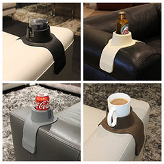 CouchCoaster �The Ultimate Anti-Spill Cup Holder Drink Coaster for Your Sofa or Couch, Steel Grey img 3