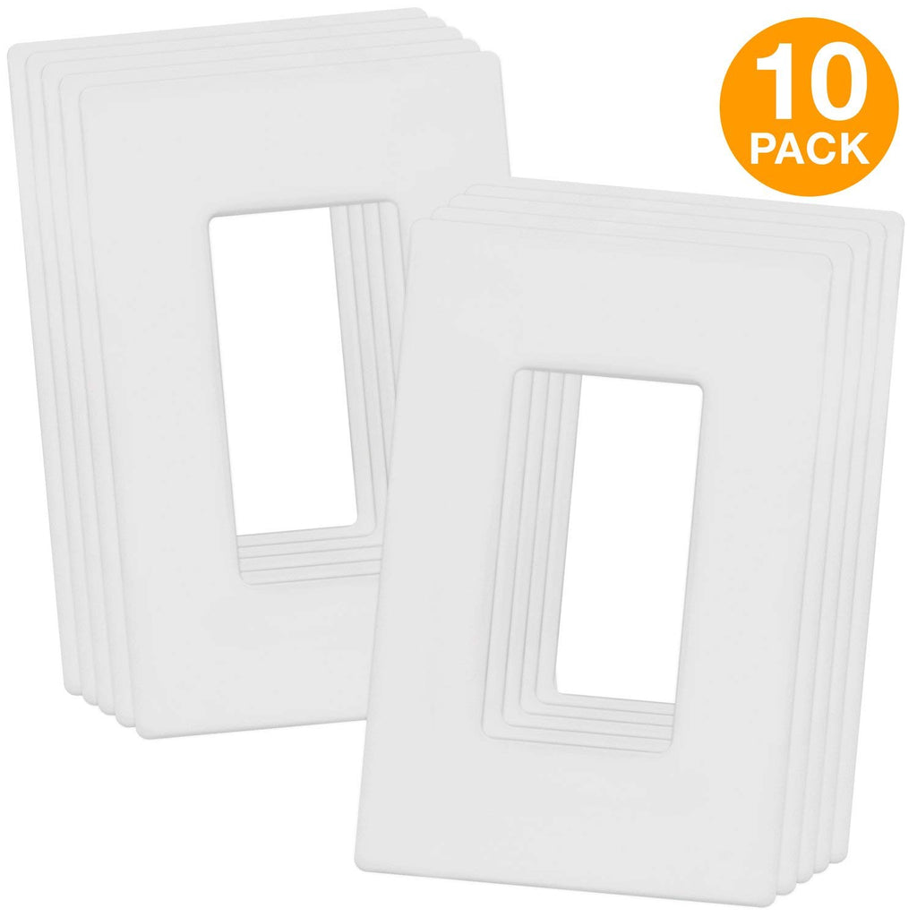 Enerlites Brushed Elite Series Decorative Screwless Cover Child Safe Decorator Wall Plate, Standard Size 1-Gang, Polycarbonate Thermoplastic, SI8831-B