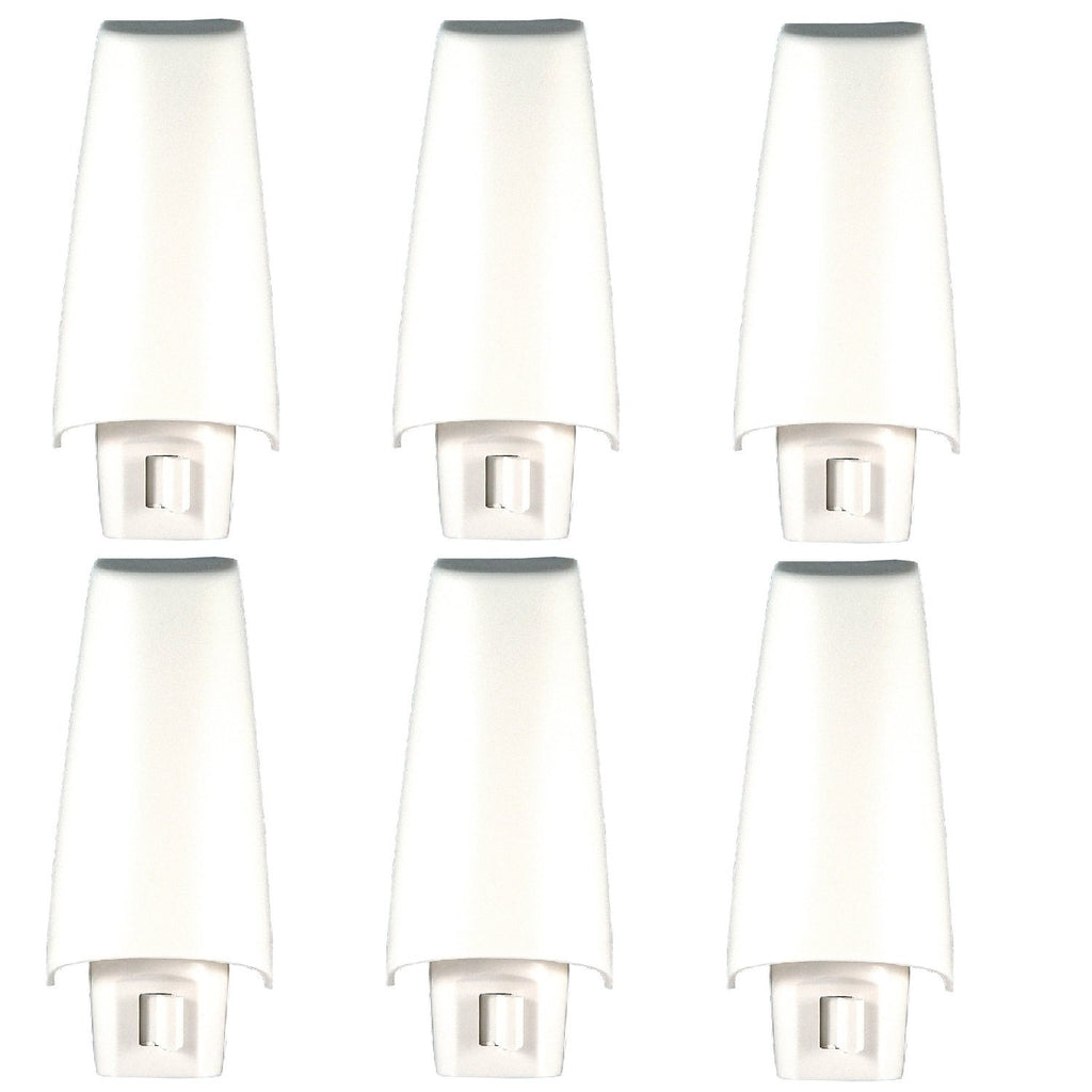 Lights By Night Manual On/Off Night Light, Incandescent, Plug-In, Soft White, White Shade, Ideal for Bedroom, Bathroom, Hallway, Stairs, Pantry and La