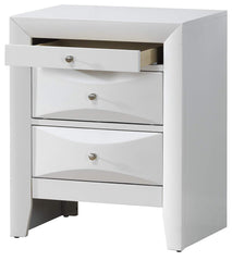 Glory Furniture G1525-N 3 Drawer Nightstand, Cappuccino