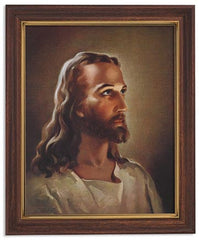 Gerffert Collection Sallman Head of Christ Catholic Framed Portrait Print, 13 Inch (Ornate Gold Tone Finish Frame)
