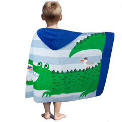 LALIFIT 100% Cotton Kids Hooded Poncho Swim Beach Bath Pool Towel for Girls/Boys(Golden Hair Mermaid)