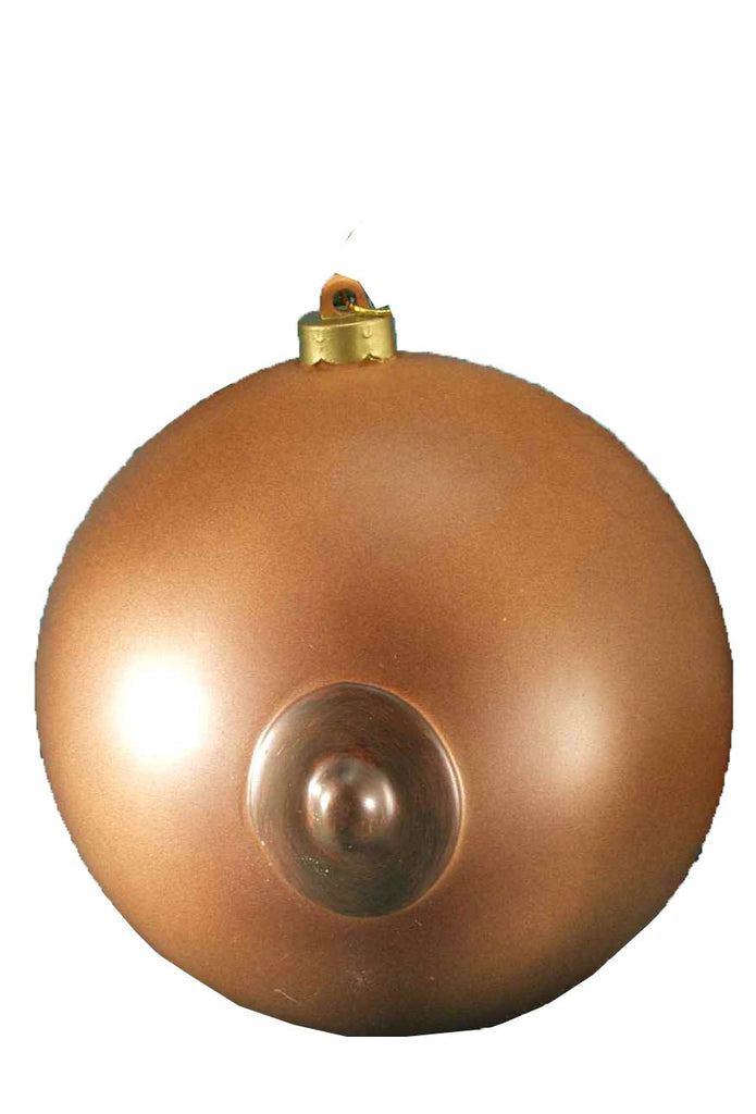 Forum Novelties 57934 Adult Novelty Holiday Ornament, Brown Boob Ball, One Size, Multicolor