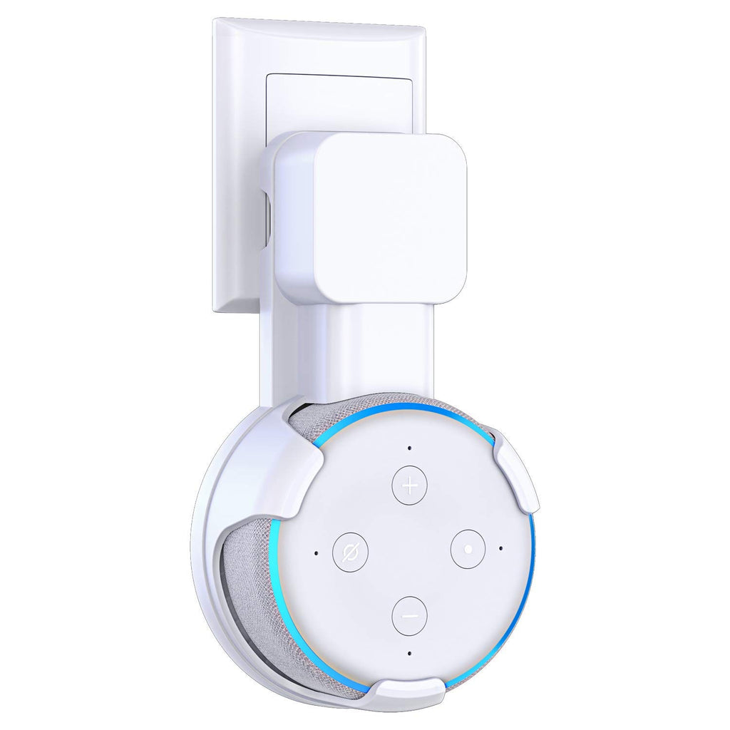 Matone Outlet Wall Mount Holder for Echo Dot 3rd Generation, A Space-Saving Solution for Your Smart Home Speakers, Clever Dot Accessories with Cord Ar