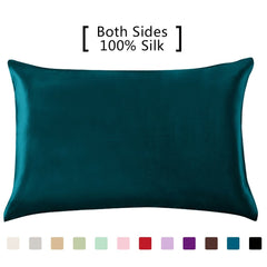 YANIBEST Silk Pillowcase for Hair and Skin, 19 Momme 100% Pure Natural Mulberry Silk Pillowcase King Queen Standard Size, Pillow Cases Cover with Hidd