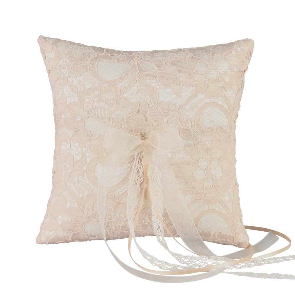 Adelaide Wedding Collection, Ring Pillow, Ivory