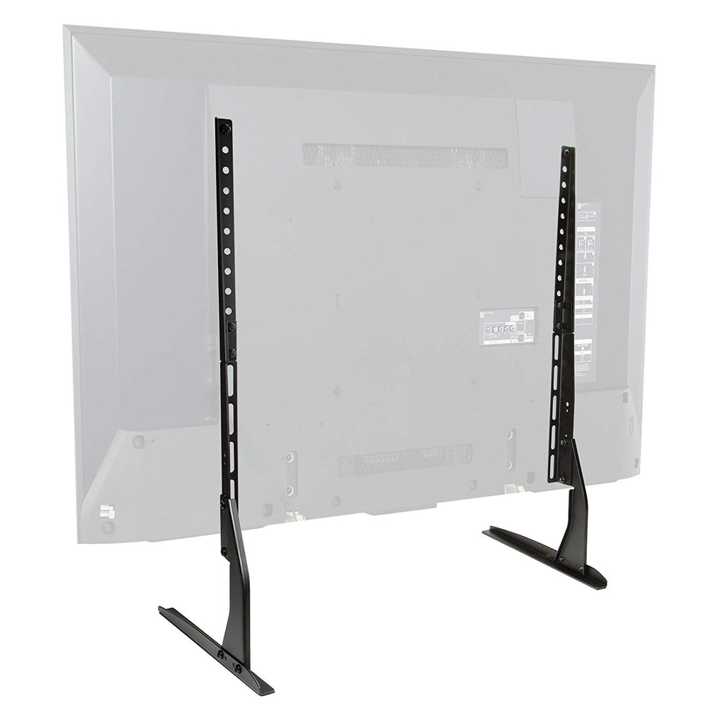 "Mount Factory Modern Tabletop TV Stand - Universal Flat Screen Base Replacement for 24"" 32"" 40"" 42"" 50"" 55"" 60"" 65"" Screens"
