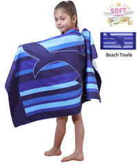 Premium Beach Towel Bath Poncho For Kids, Ultra Absorbent and Super Soft