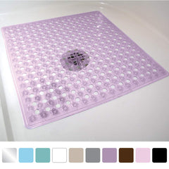 Gorilla Grip Original Patented Bath, Shower, and Tub Mat (21x21), Machine Washable, Antibacterial, BPA, Latex, Phthalate Free, Square Bathroom Mats wi