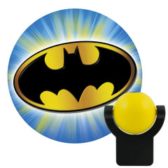 DC Comics Collectors Eddition Batman and Superman LED Night Light Projectables (Superman Logo Vs. Batman Logo Bundle 2 Pack)