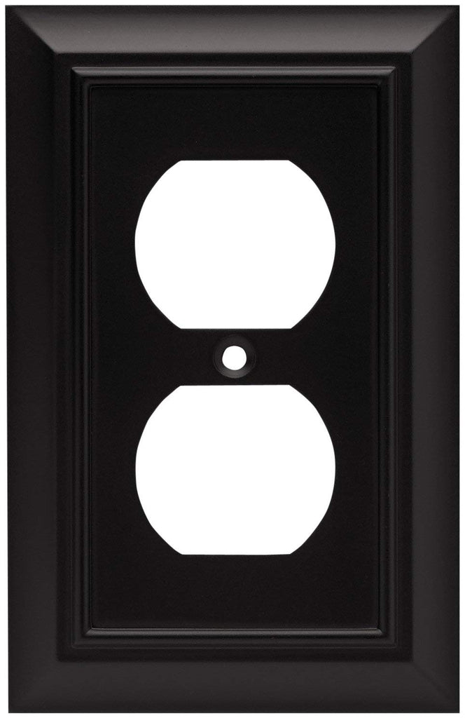 Brainerd 64240 Architectural Single Duplex Wall Plate, Venetian Bronze