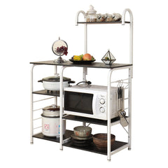 SogesFurniture Multi-fuctional Micowave Oven Rack Kitchen Storage Shelf Cart White Oak 172-MO-SF