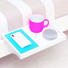 BedShelfie Plus The Original Bedside Shelf - 3 Colors - 2 Sizes - AS SEEN ON Business Insider (Plus Size, White)