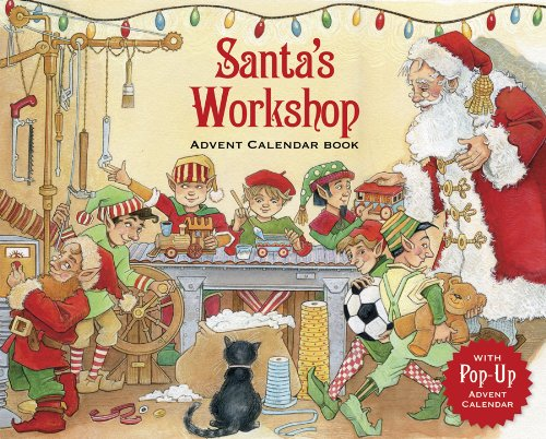 Entertaining with Caspari Santa's Workshop Story Book Advent Calendar