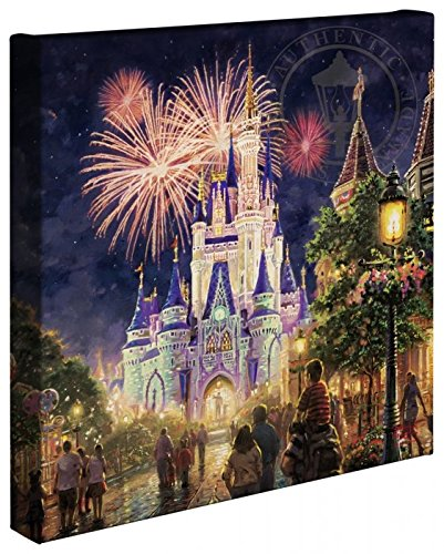 "Thomas Kinkade - Gallery Wrapped Canvas , Main Street U.S.A. Walt Disney World Resort , 14"" x 14"" , 66331"