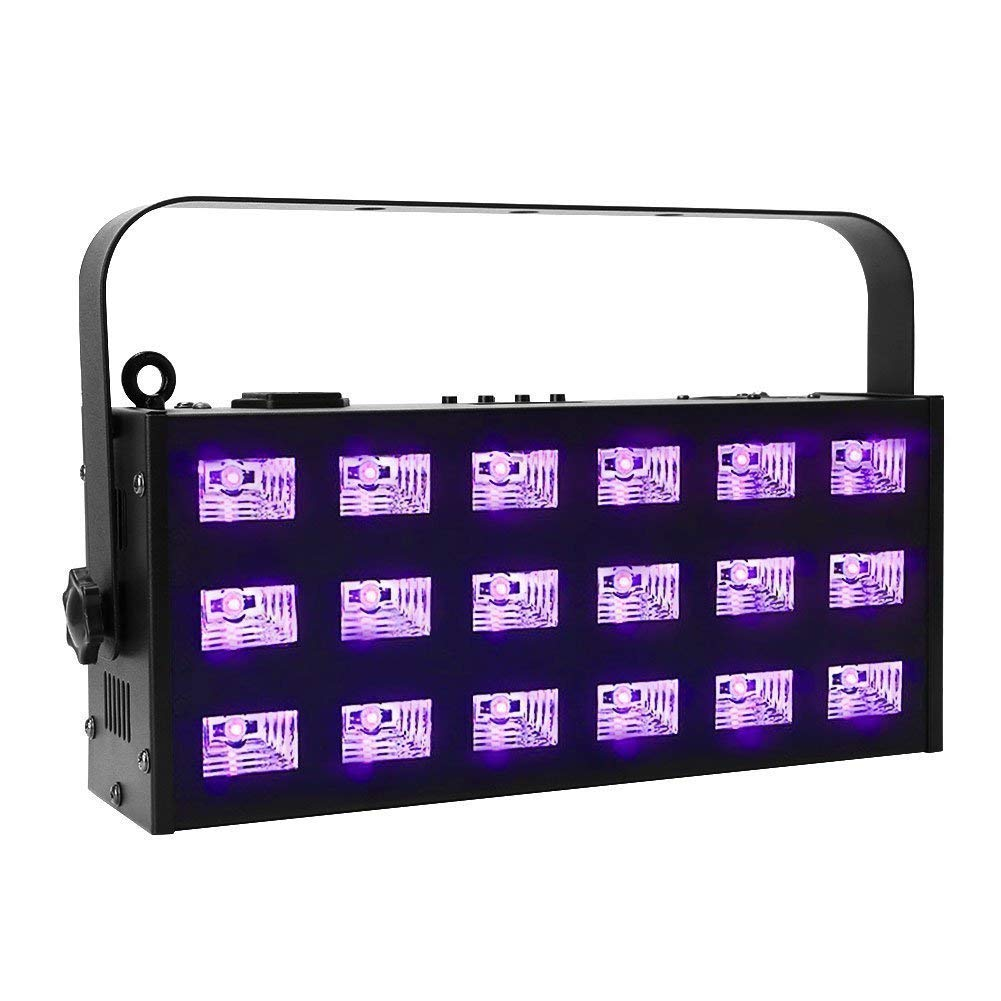 Black Lights for Parties, OPPSK 27W Dimmable 9LED UV Bar by Remote Control for Birthday Halloween Glow in The Dark Party Supplies