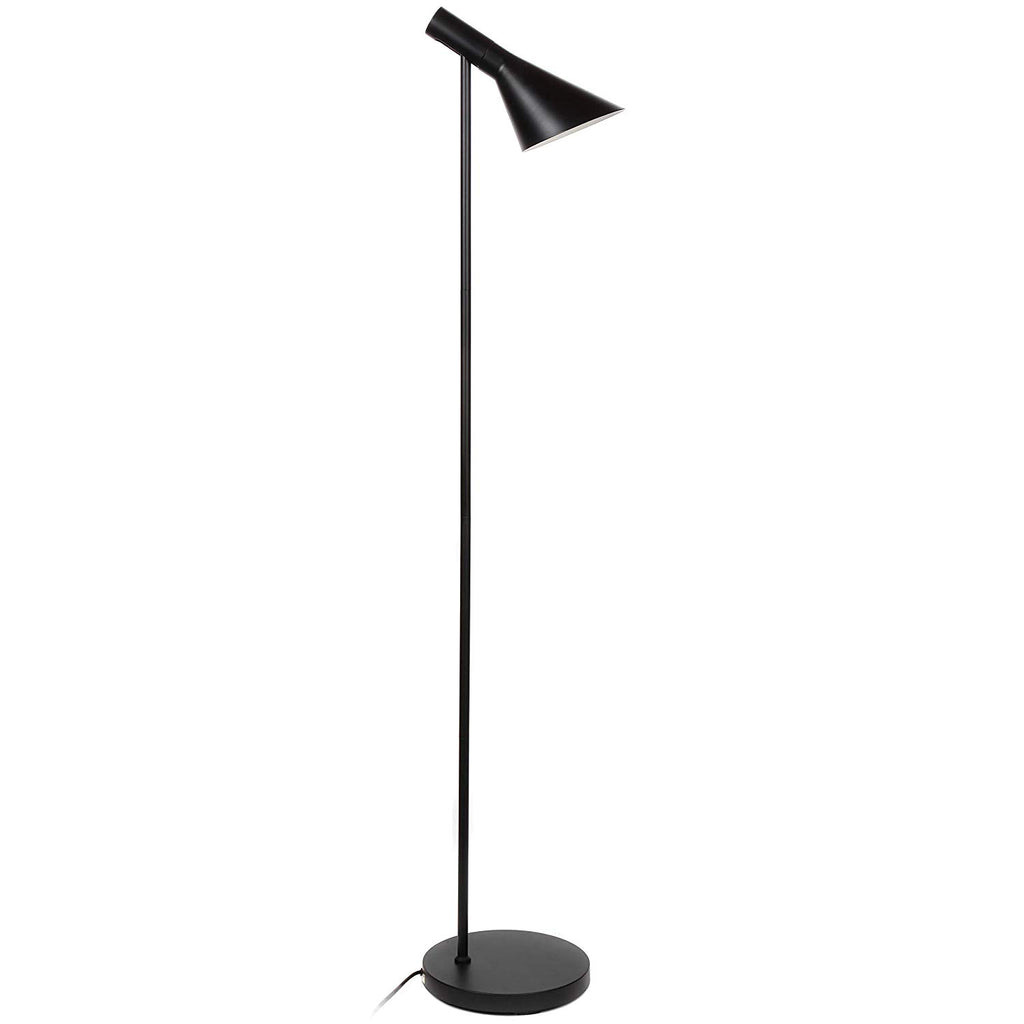 Brightech Levi LED Focused Floor Lamp – Contemporary Mid Century Modern LED Standing Light with Metal Shade for Bedroom Living Room Office Tasks