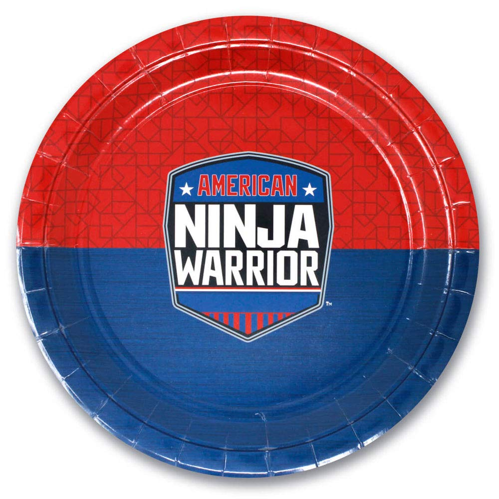 American Ninja Warrior Party Supplies - Paper Dinner Plates - Round 9 inch - Pack of 10