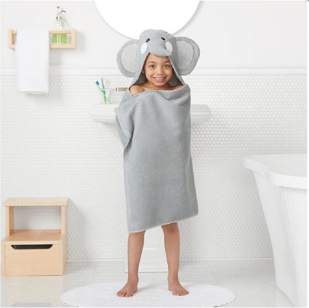 "Jumping Beans Animal Hooded Bath Towel Wrap - 25'' x 50"" (ELEPHANT)"