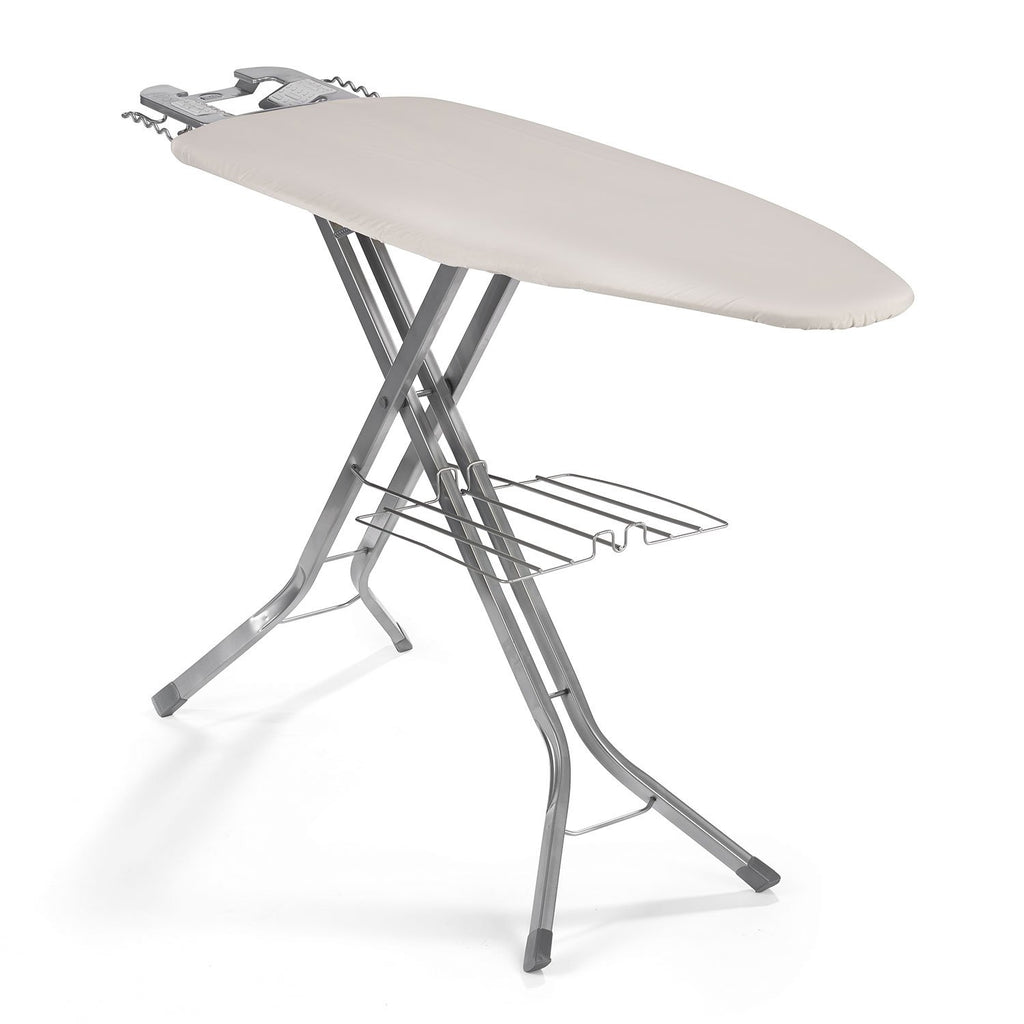"Polder IB-5119RM Oversized 51"" x 19"" Ultimate Ironing Board Station with Built-in Iron Rest, Garment Shelf, Thick Pad and 100% Cotton Cover, Natural"