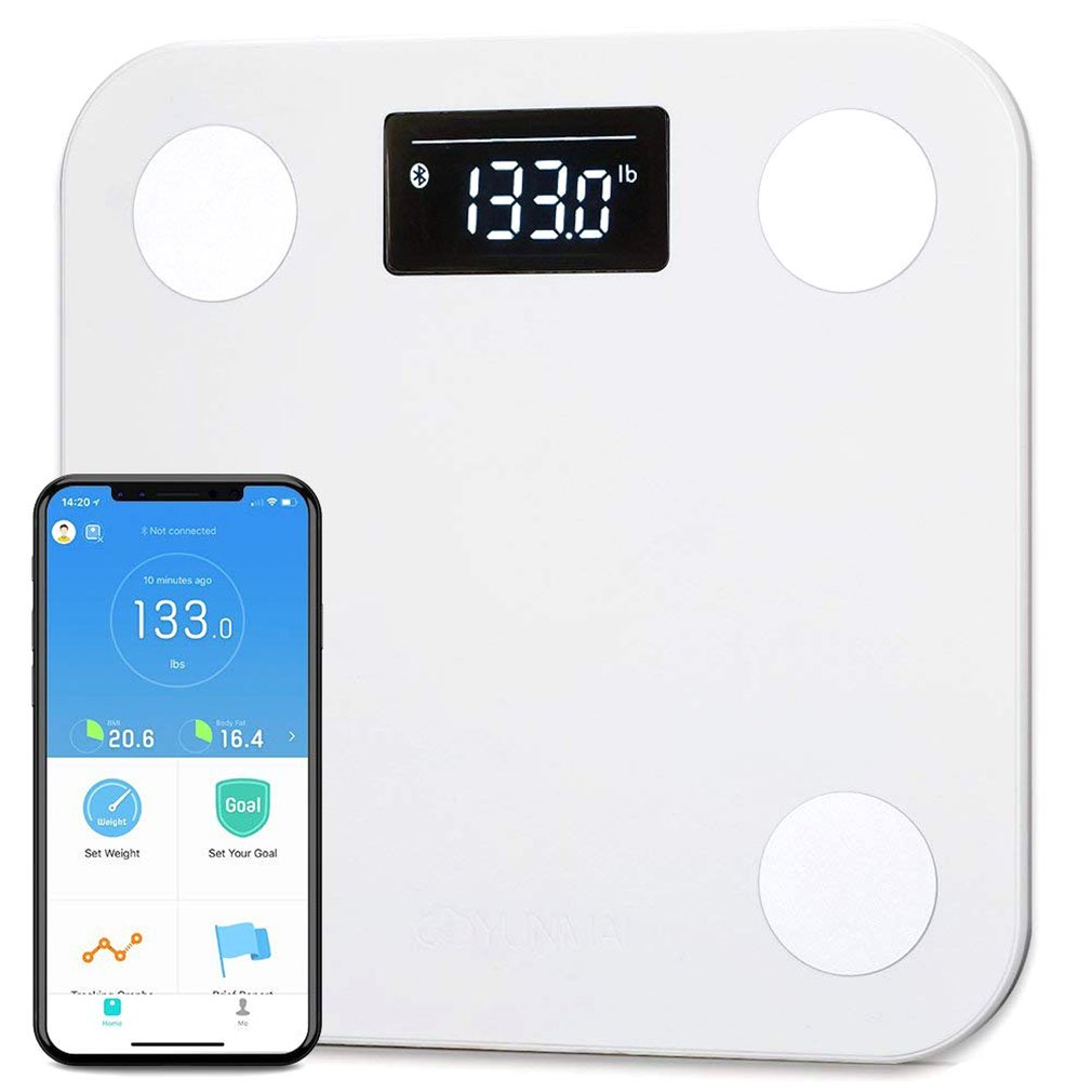 Yunmai Smart Bluetooth Scale, Body Fat Digital Weighing Weight Scale with Free APP Body Composition BMI Monitor Analyzer with Large Display, Work with