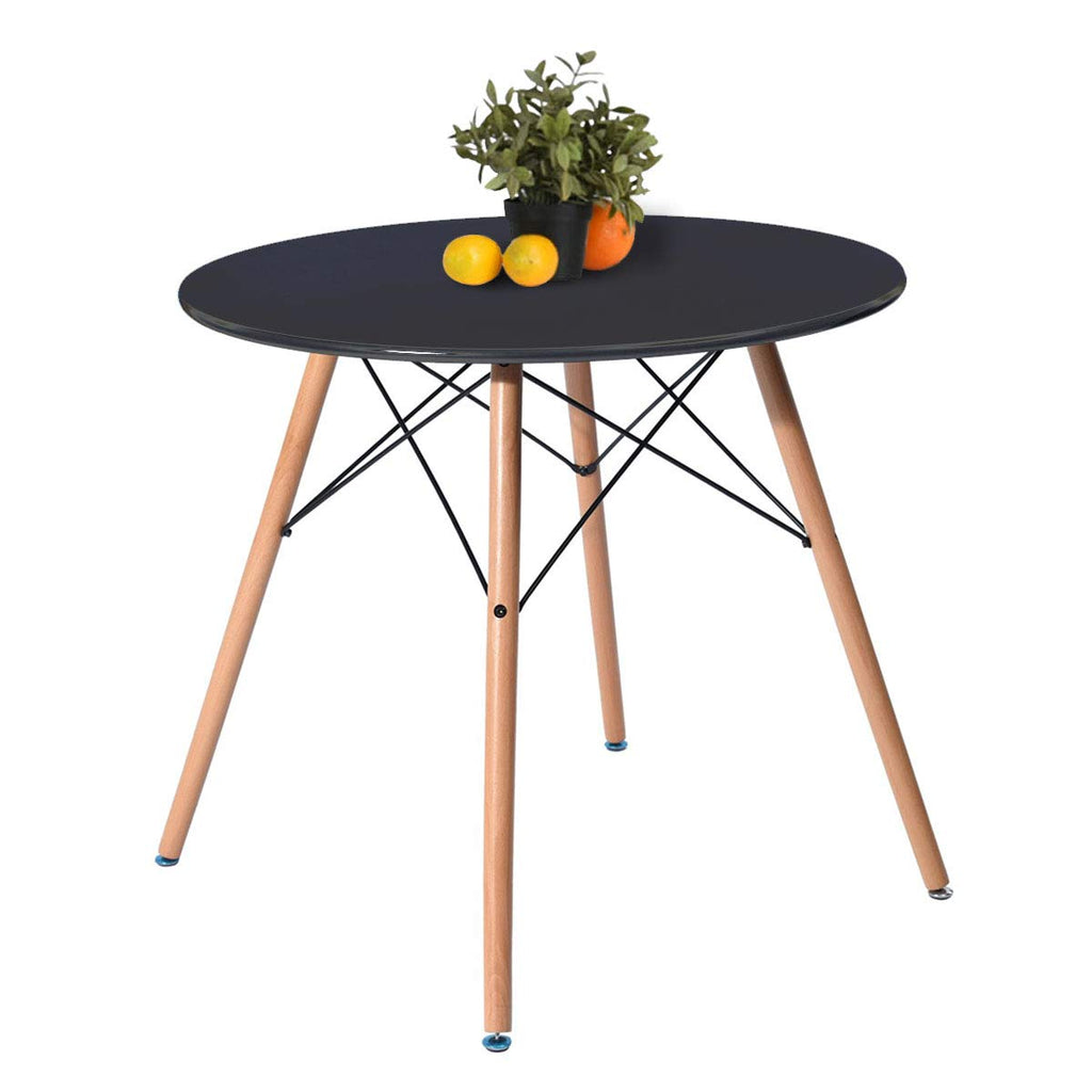 Kitchen Dining Table Round Coffee Table Black Collection Modern Leisure Wood Tea Table Office Conference Pedestal Desk
