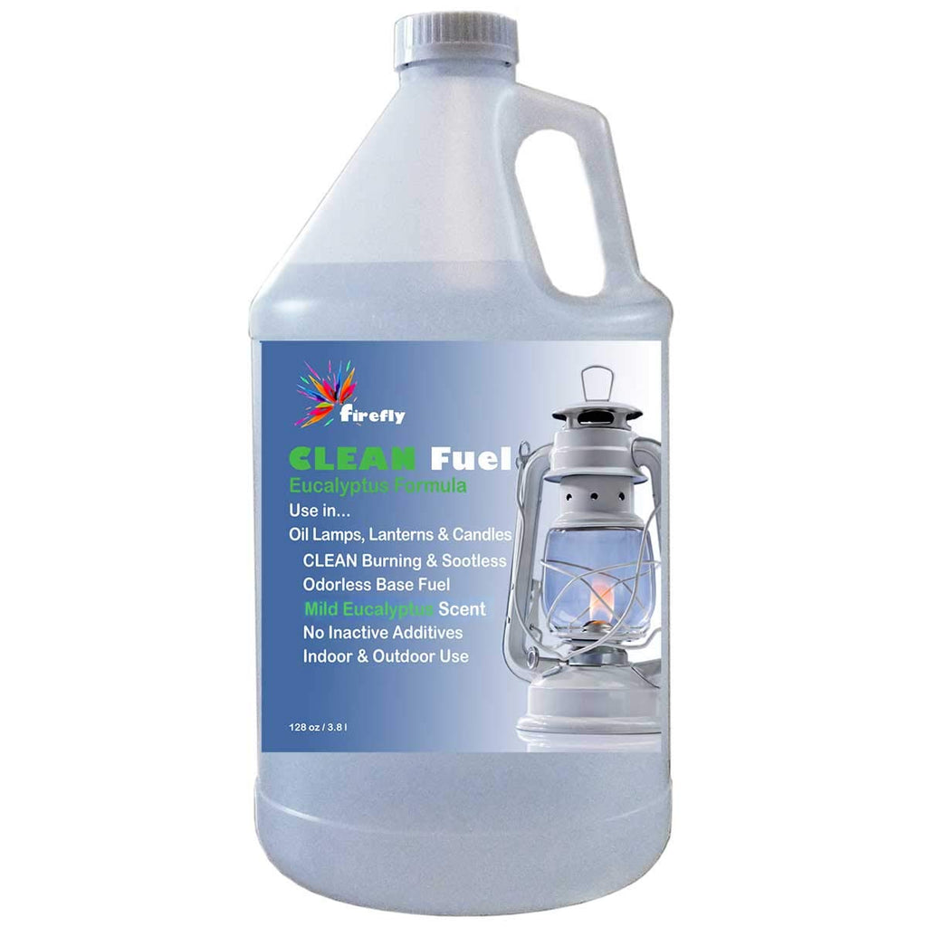 Firefly Eucalyptus CLEAN Fuel Lamp Oil – Smokeless/Virtually Odorless – Longer Burning – 1 Gallon