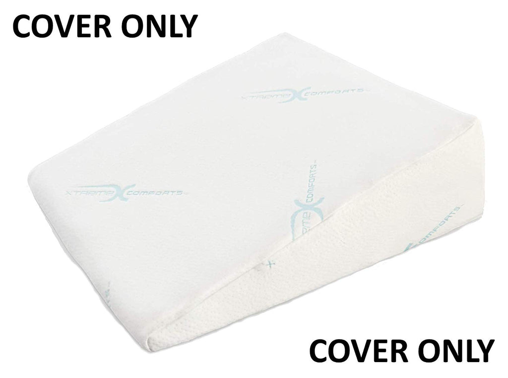 "Xtreme Comforts Hypoallergenic Memory Foam Bed Wedge Bamboo Cover Designed to Fit Our (27 'x 25"" x 7"") Bed Wedge Pillow"