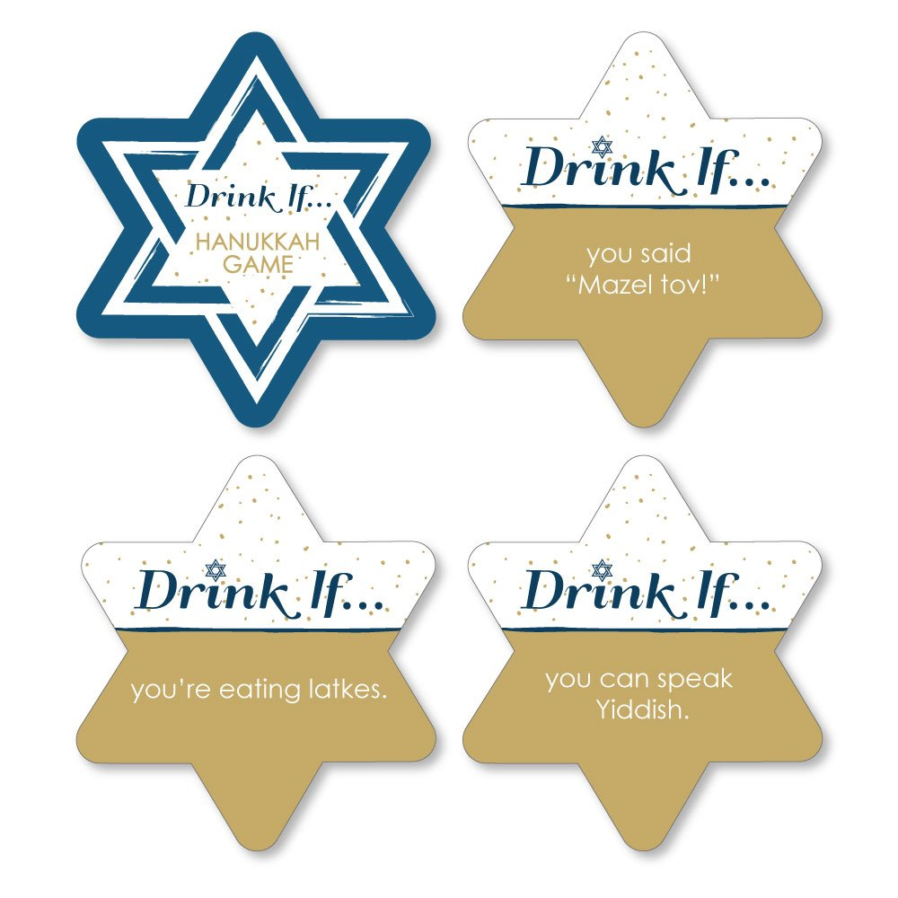 Drink If Game - Happy Hanukkah - Chanukah Party Game - 24 Count