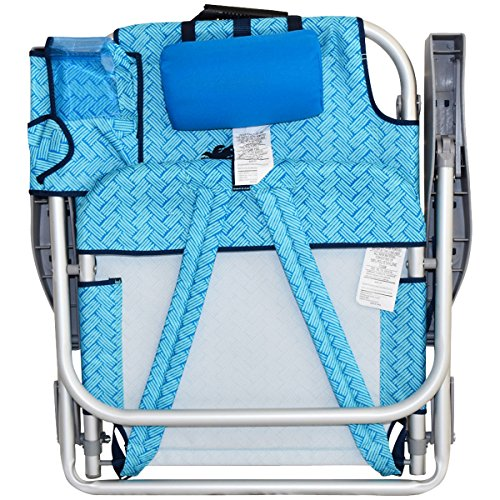 Tommy Bahama 2016 Backpack Cooler Chair with Storage Pouch and Towel Bar img 3