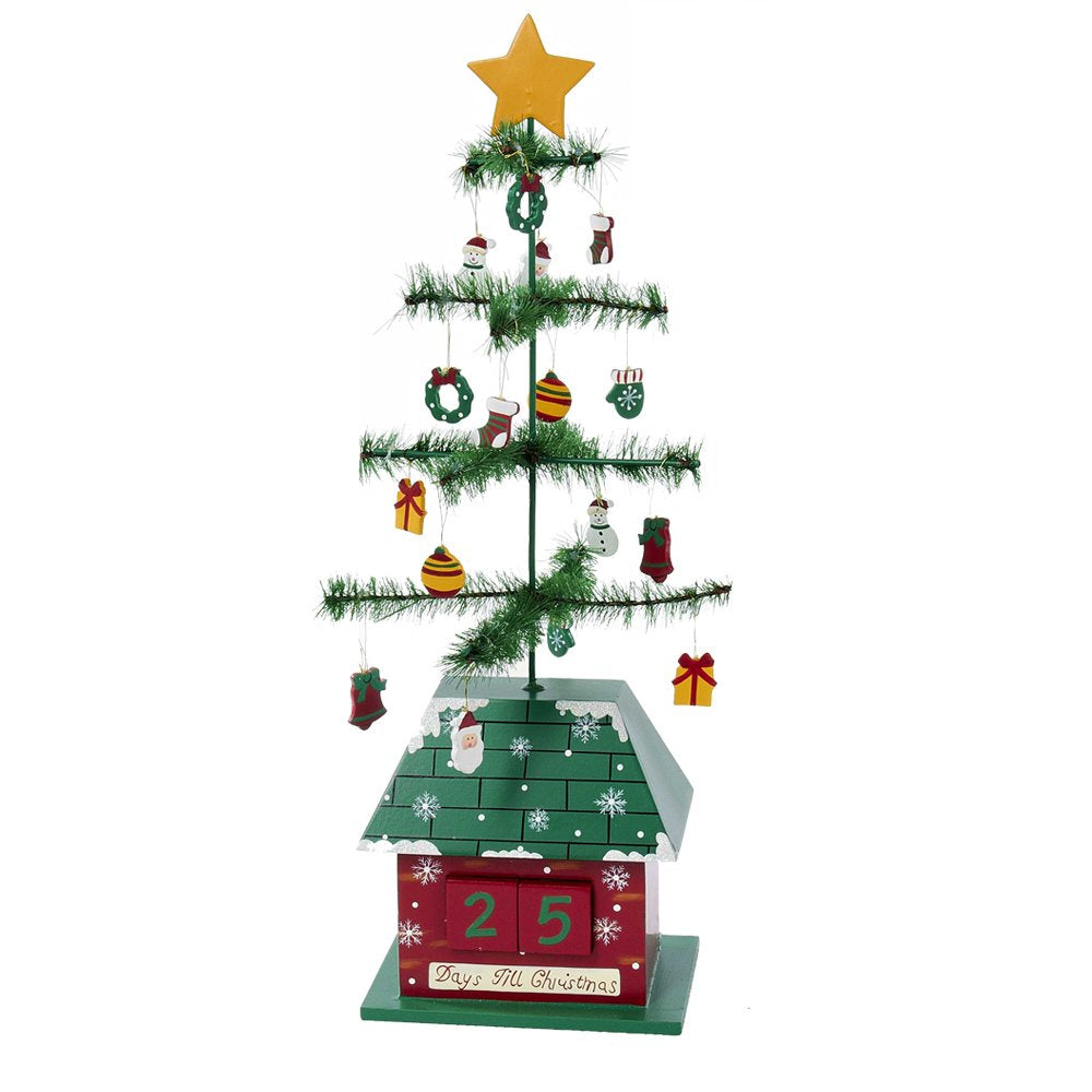 Kurt Adler Christmas Tree Calendar with Ornaments, 17-Inch