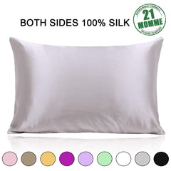 Ravmix Pillowcase King Size, 100% Silk Pillowcase Both Sides for Hair and Skin with Hidden Zipper 21 Momme 600 Thread Count Hypoallergenic Mulberry Si