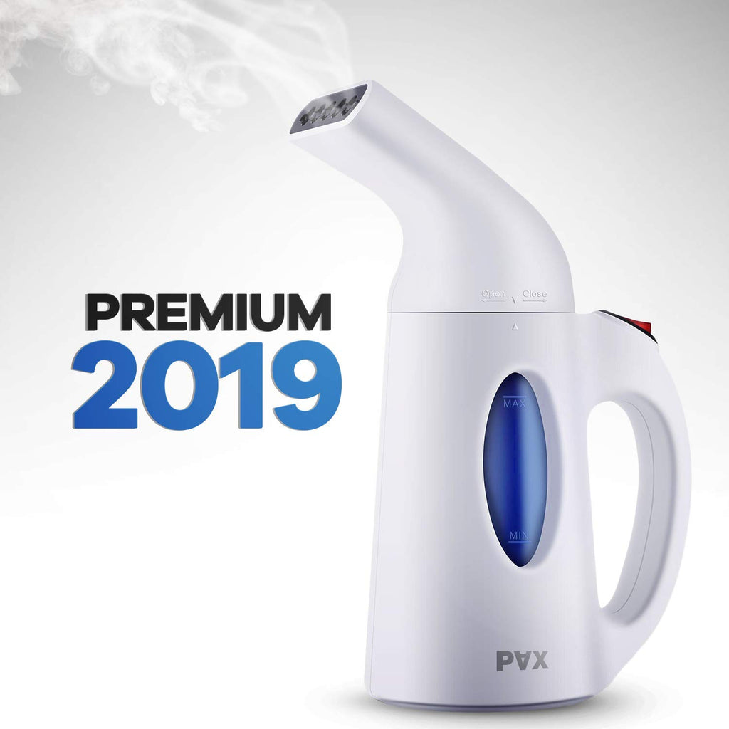 PAX Powerful Clothes/Fabric/Garment Steamer. Wrinkle Remover/Clean/Sanitize/Sterilize/Defrost. Perfect for Home/Travel