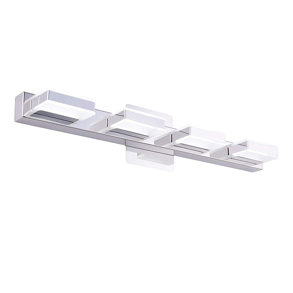 mirrea 24in Modern LED Vanity Light in 4 Lights Stainless Steel and Acrylic 21w Cold White 5000K