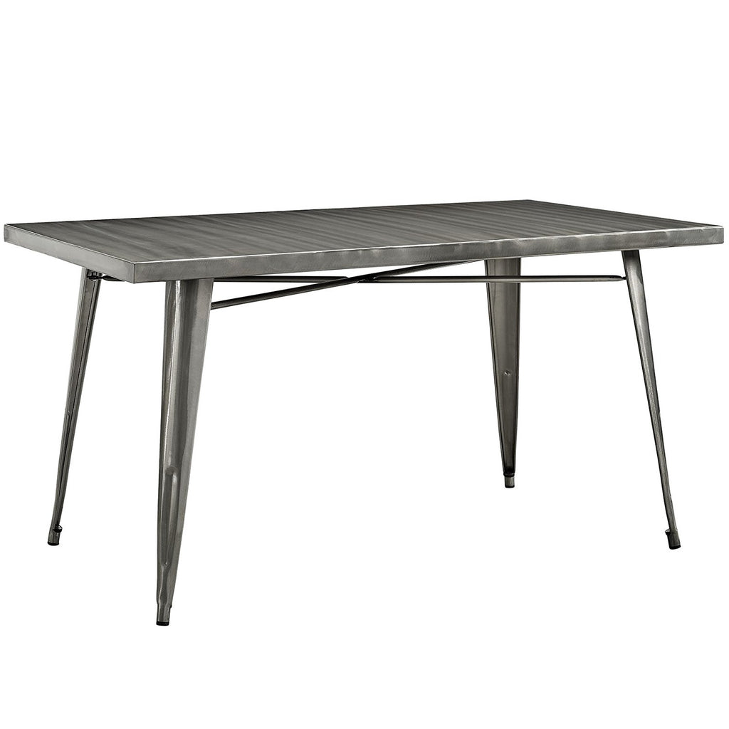 Modway Alacrity Dining Table, Gun Metal