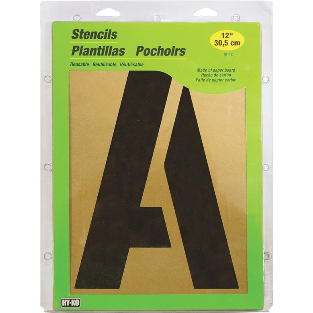 HY-KO Products ST-12 Number & Letter Large Stencils, 12""