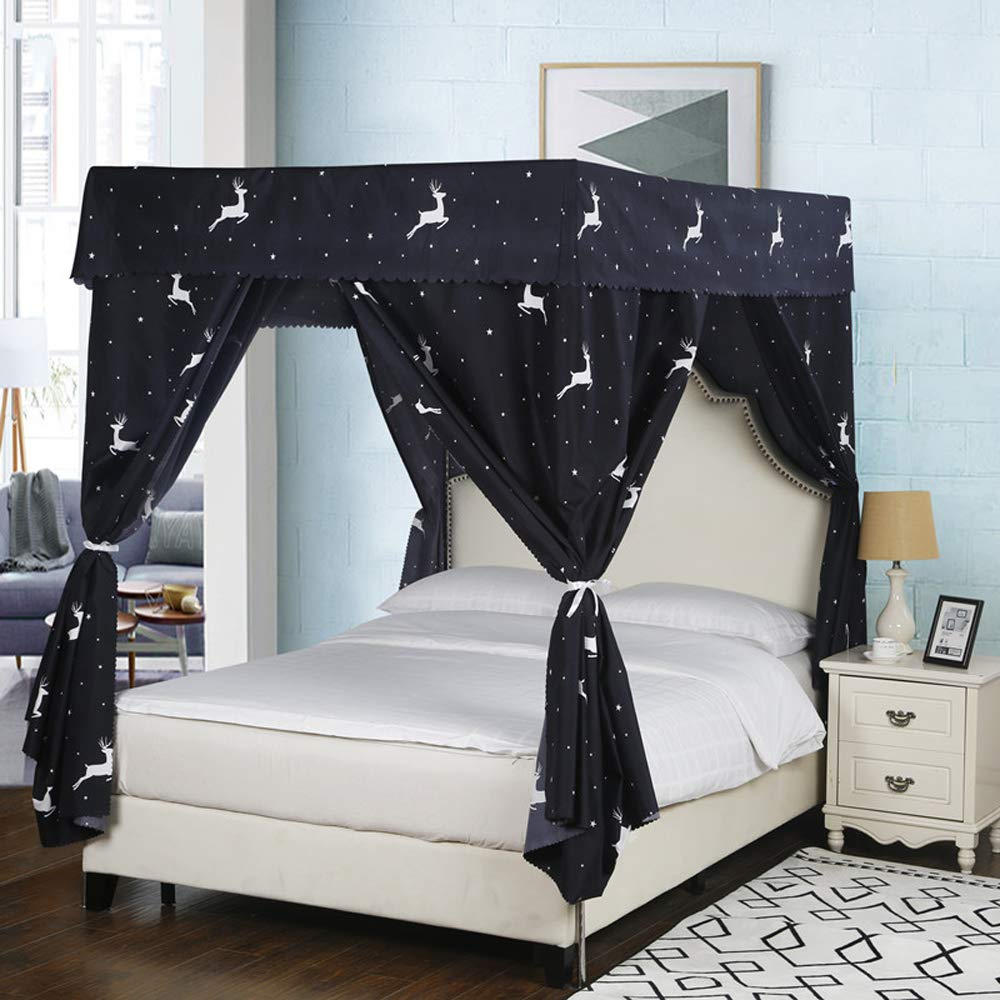 Galaxy Star Four Corner Post Bed Light Shading Curtain Canopy Mosquito Net