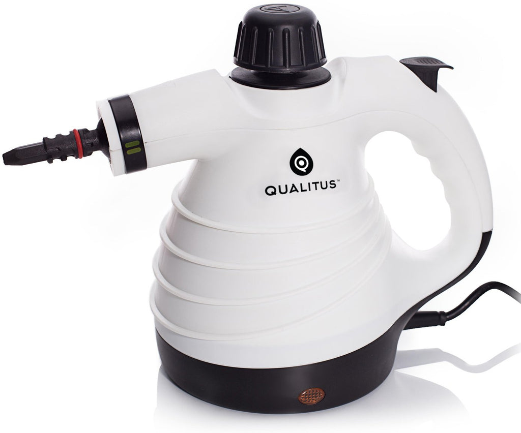 Qualitus Cleveland Steamer ETL Listed Handheld Multi-Purpose Pressurized Steam Cleaner & Sanitizing System w/ Attachments & Long 12 ft Cord - Perfect