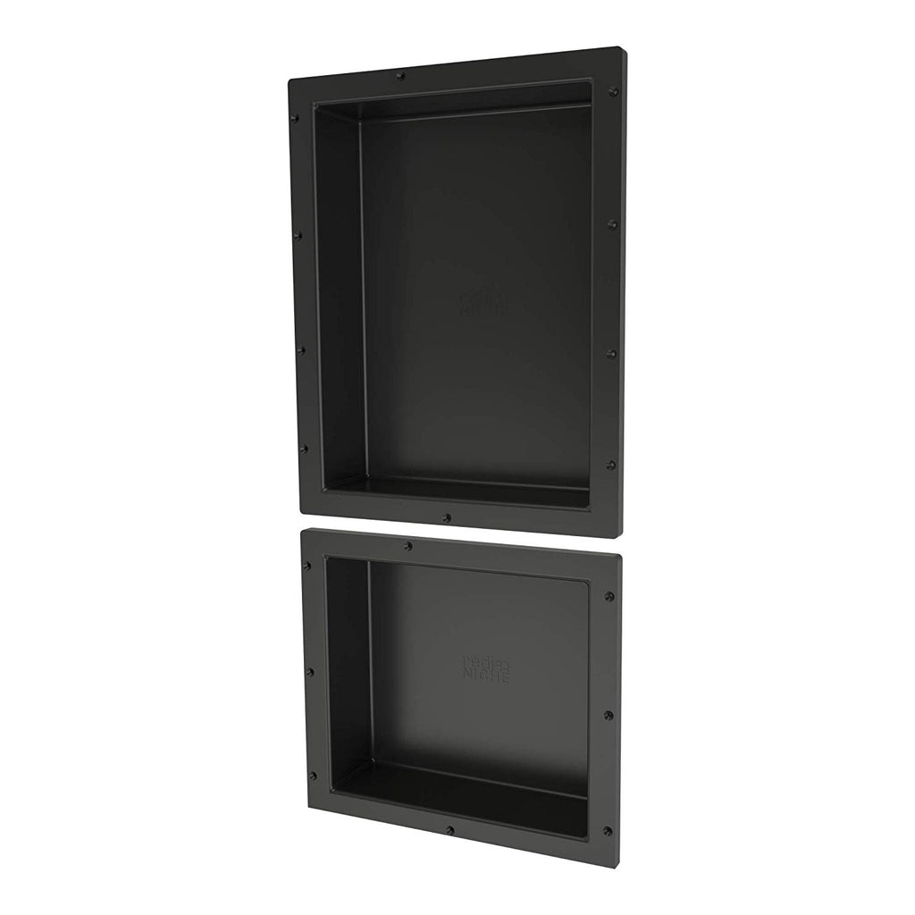 "Tile Redi USA RND1620S-14 Shower Niche 16""W x 34""H Black"