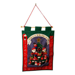 "SFAM Advent Calendar Christmas Countdown for Kids Interactive Holiday Decor 21.5"" x 16"""