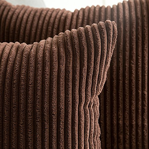 MIULEE Pack of 2, Corduroy Soft Soild Decorative Square Throw Pillow Covers Set Cushion Cases Pillowcases for Sofa Bedroom Car 20 x 20 Inch 50 x 50 cm img 1