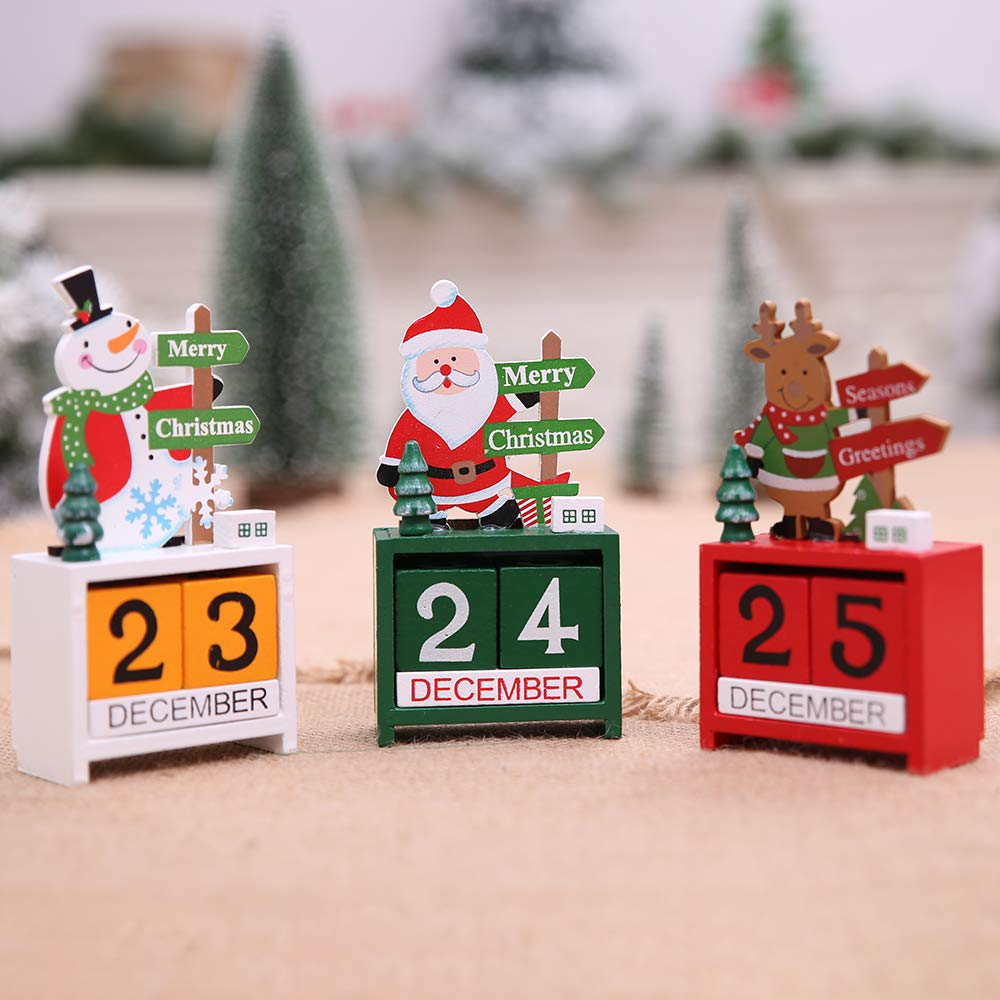 H.S.C Christmas Wooden Advent Calendar (White)