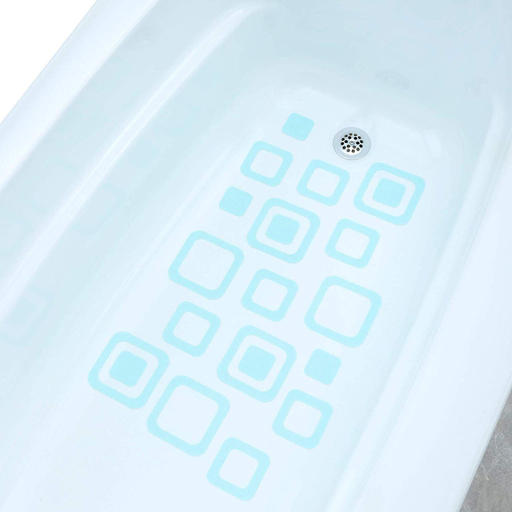 SlipX Solutions Adhesive Square Safety Treads Add Non-Slip Traction to Tubs, Showers & Other Slippery Spots - Design Your Own Pattern! (21 Count, Reli