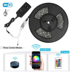 Nexlux LED Strip Lights, WiFi Wireless Smart Phone Controlled Light Strip LED Kit 5050 LED Lights,Working with Android and iOS System,Alexa, Google As