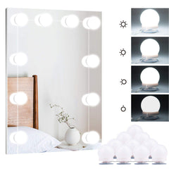 Hollywood Style LED Vanity Mirror Lights Kit with 10 Dimmable Light Bulbs for Makeup Dressing Table and Power Supply Plug in Lighting Fixture Strip &n
