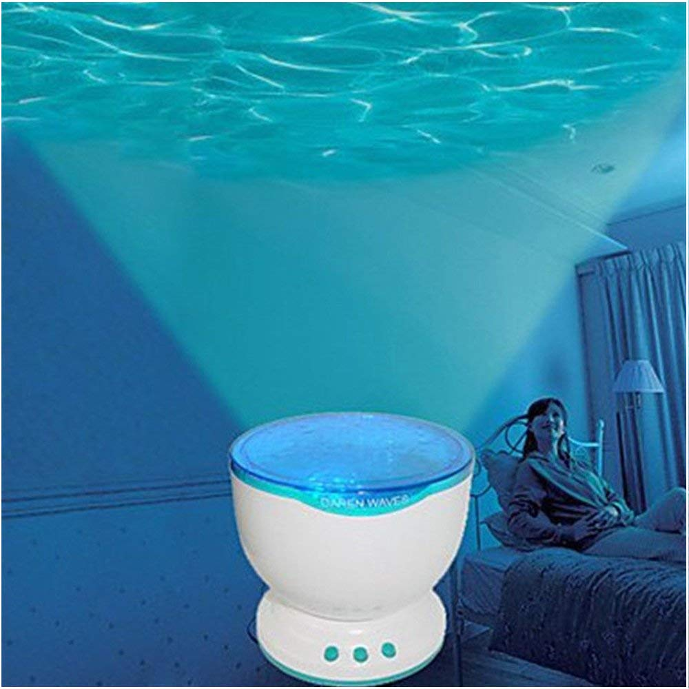 Noa Store Calming Autism Sensory LED Light Projector Toy Relax Blue Night Music Projection